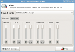 Mixer - buttons unchecked
