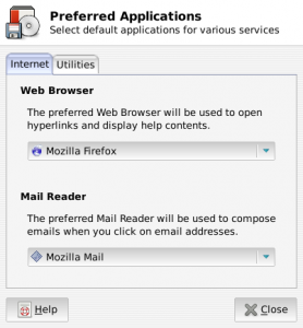 Screenshot-Preferred Applications