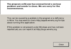 I just kept on getting this error message... over and over and over and over...