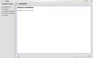 Not only did YaST fail at installing, it also lied and told my the install was successful. I hate liars.