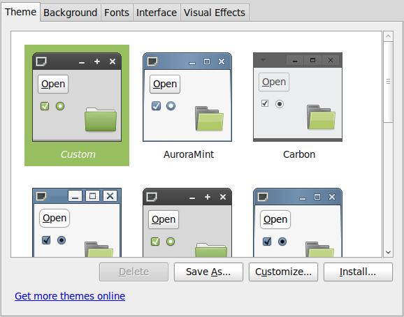 Restore the default Linux Mint 8 theme and colours – The Linux