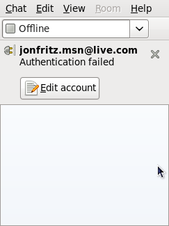 Authentication of my newly added account failed