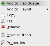 The right-click context menu