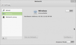 Mint 12's Wireless Network Configuration Panel
