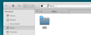 For my example I'm just going to put it under a new NAS folder inside of my Music folder