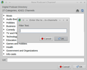 You can add feeds directly from the podcast directory or from feed URLs