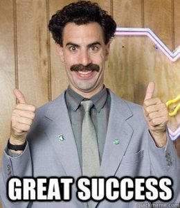 Even Borat agrees!