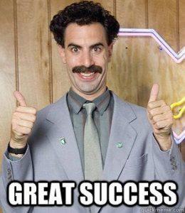 Even Borat agrees!