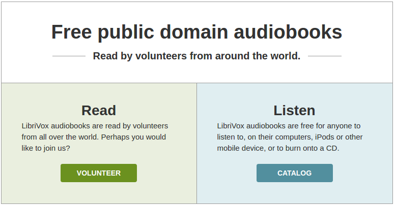 Enjoy some free audiobooks with LibriVox! – The Linux Experiment