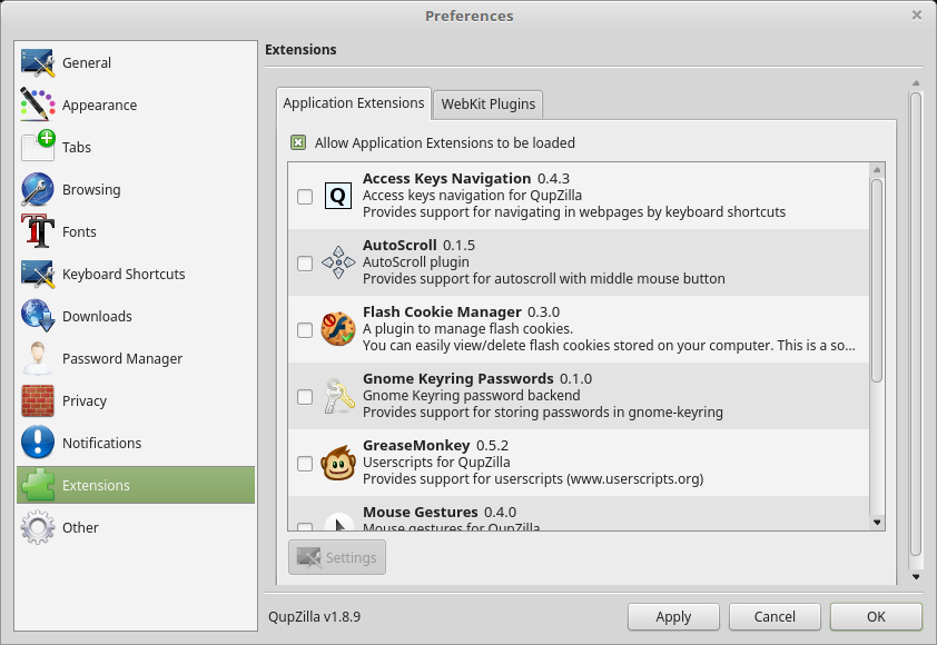 Alternative software: QupZilla Browser – The Linux Experiment