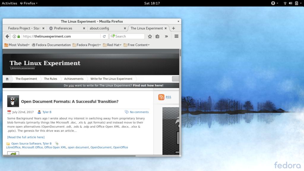 Fedora desktop screenshot