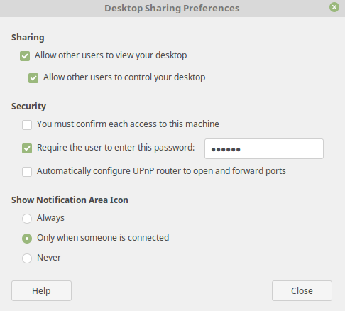 Enabling remote desktop sharing (VNC) on Linux Mint 19 – The Linux